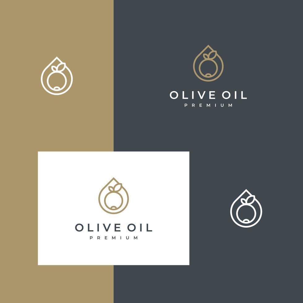 logo ontwerp olijfolie vector