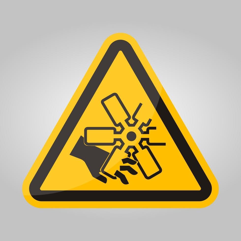 snijden van vingers of hand motor ventilator symbool teken, vector illustratie, isoleren op witte achtergrond label .eps10