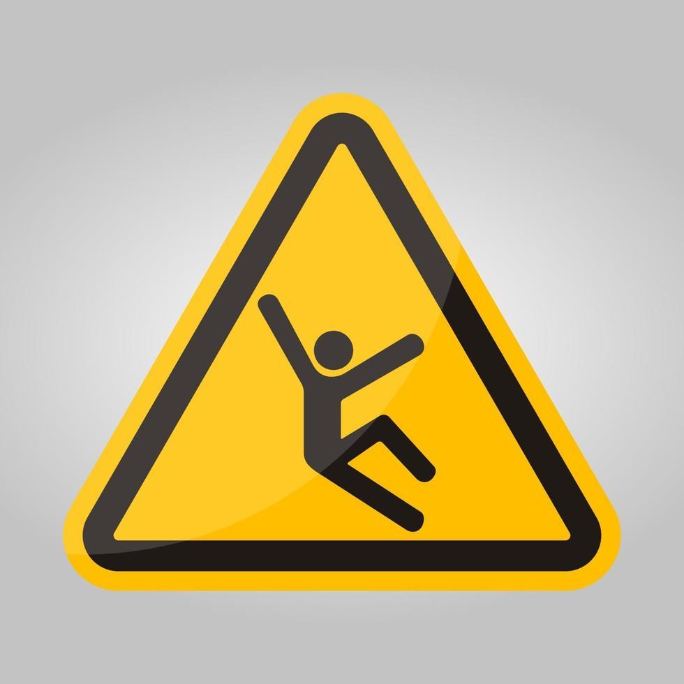 klim gevaarsymbool teken isoleren op witte achtergrond, vector illustratie eps.10