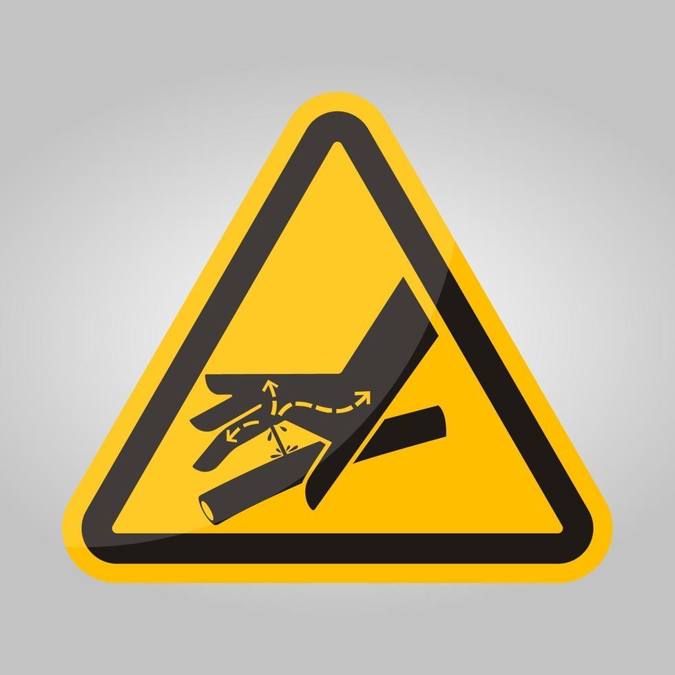 huid doorboren hydraulische lijn symbool teken, vector illustratie, isoleren op witte achtergrond label .eps10