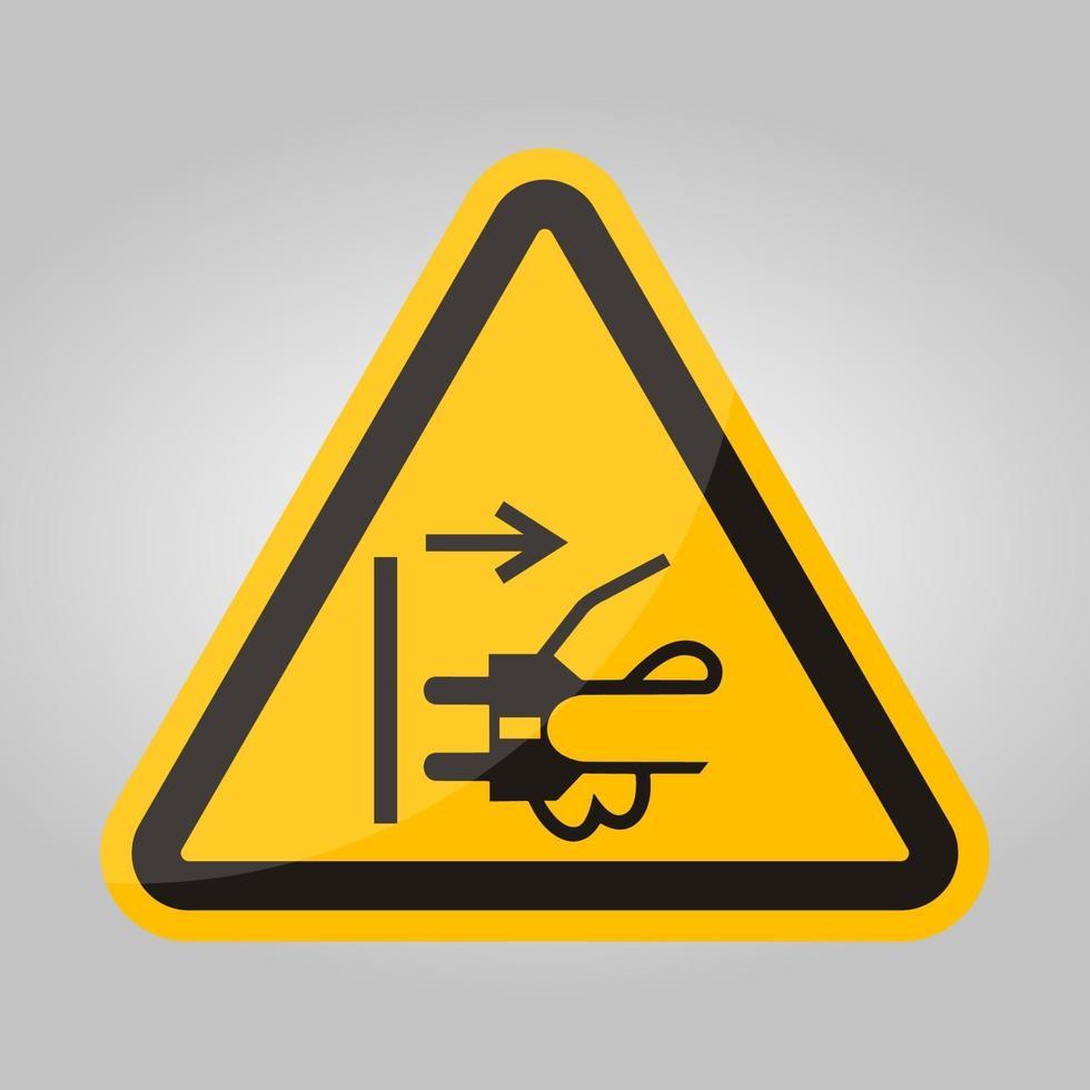 ppe-pictogram. ontkoppel de stekker van het stopcontact symbool teken isoleren op witte achtergrond, vector illustratie eps.10