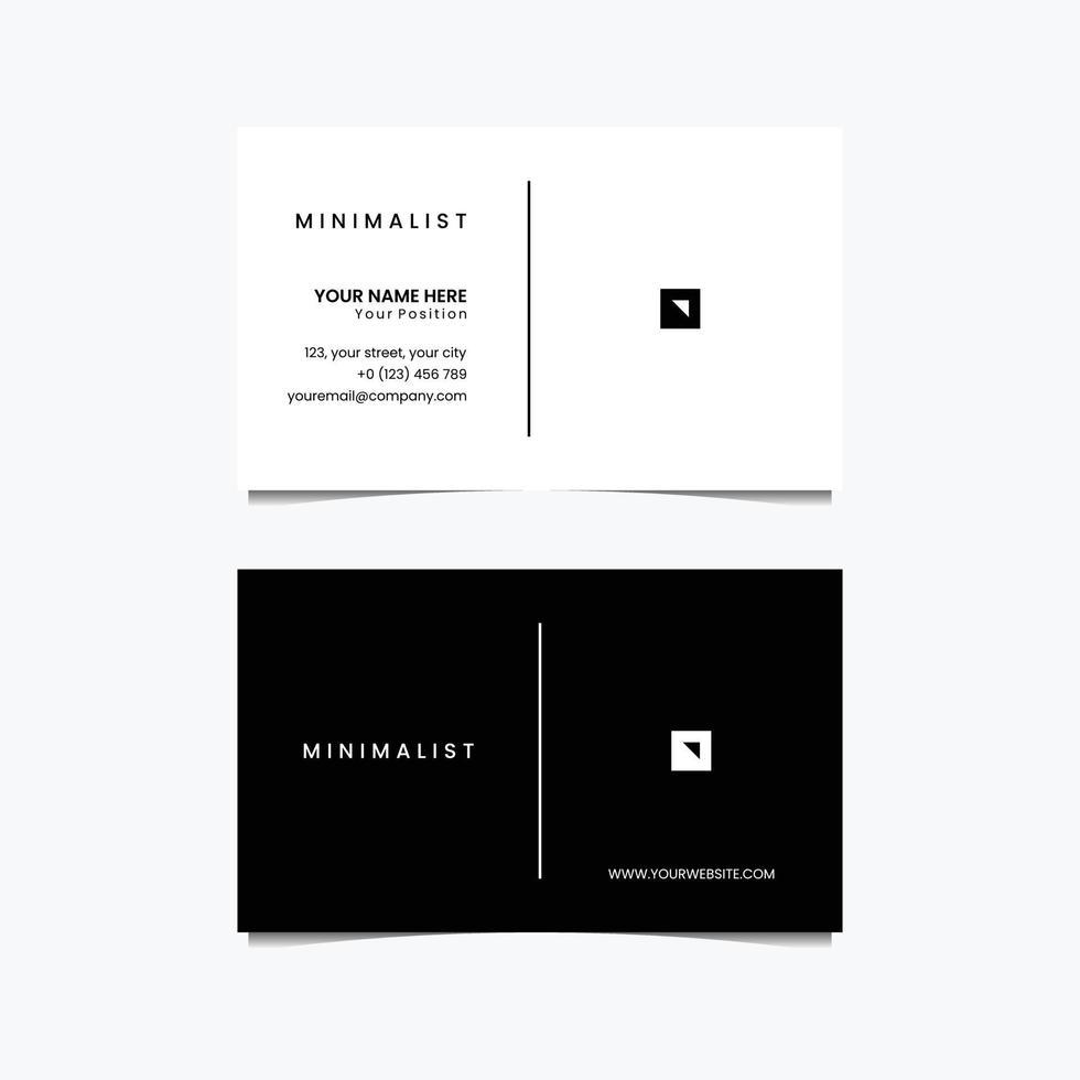 logo ontwerp minimalistisch visitekaartje vector