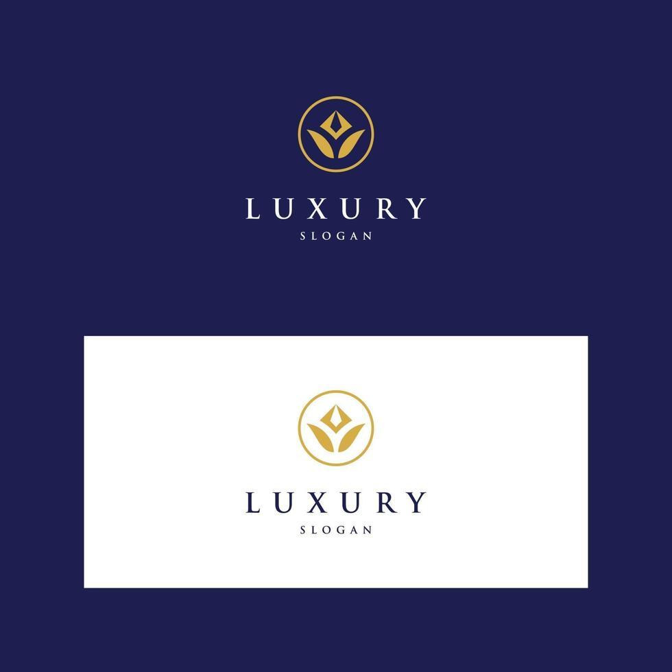 logo-ontwerp luxe, mode, bloem vector