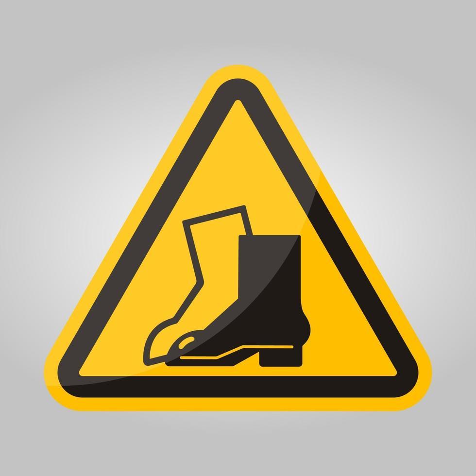symbool slijtage voetbescherming teken isoleren op witte achtergrond, vector illustratie eps.10