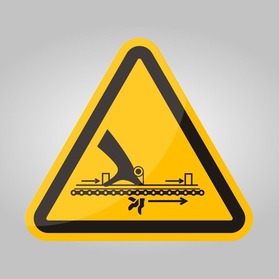 waarschuwing bewegend deel veroorzaken letsel symbool teken isoleren op witte achtergrond, vector illustratie