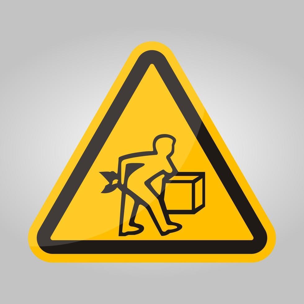 PPE-pictogram. lift correct symbool teken isoleren op witte achtergrond, vector illustratie eps.10