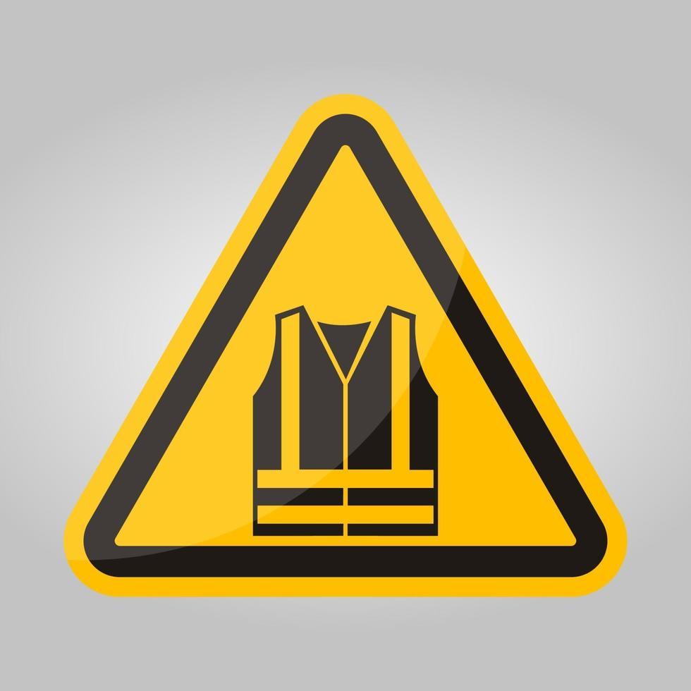 ppe-pictogram. slijtage hoge zichtbaarheid kleding symbool teken isoleren op witte achtergrond, vector illustratie eps.10