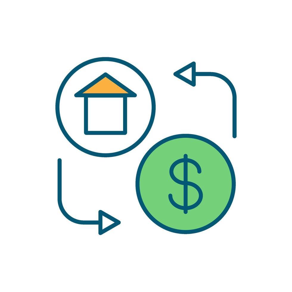 huis kopen RGB-kleur pictogram vector