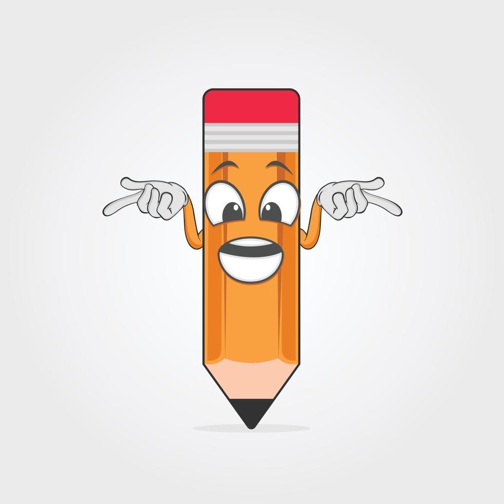 illustratie vectorafbeelding van potlood karakter vector