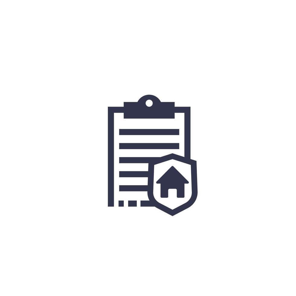 huis verzekering pictogram vector