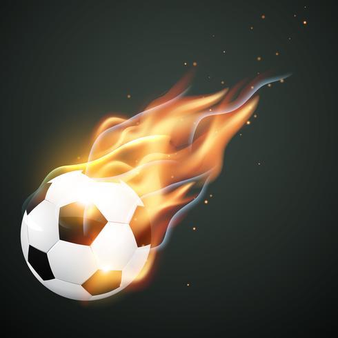 illlustration van brandende voetbal vector