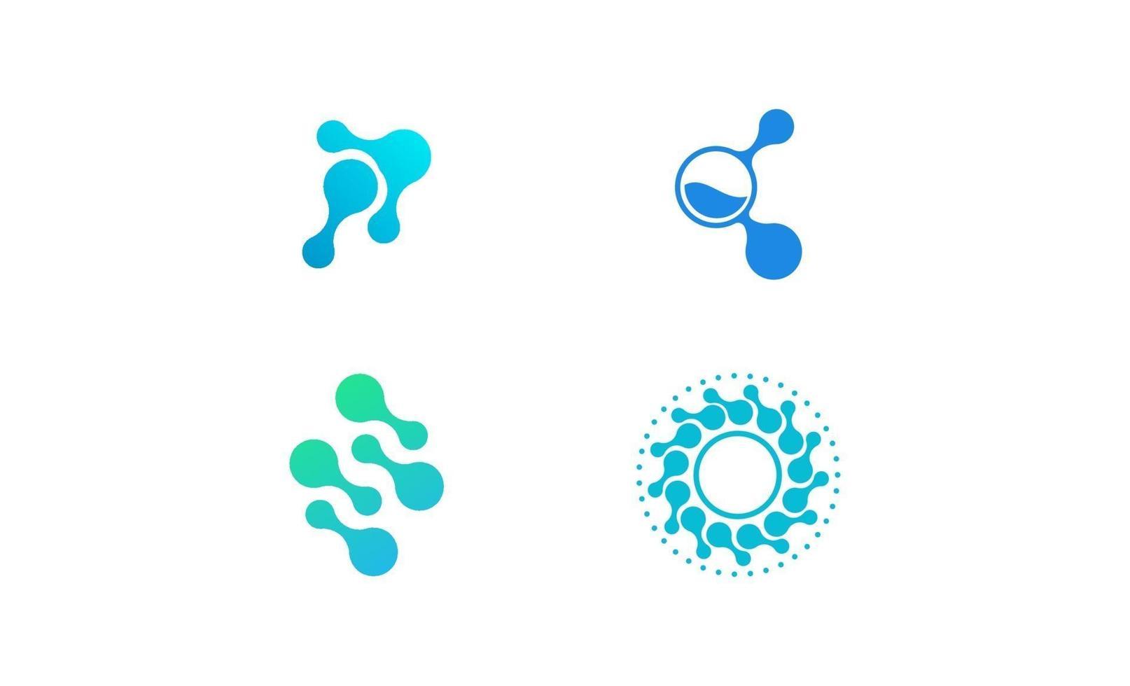 molecuul lab wetenschap logo sjabloon ontwerp vector
