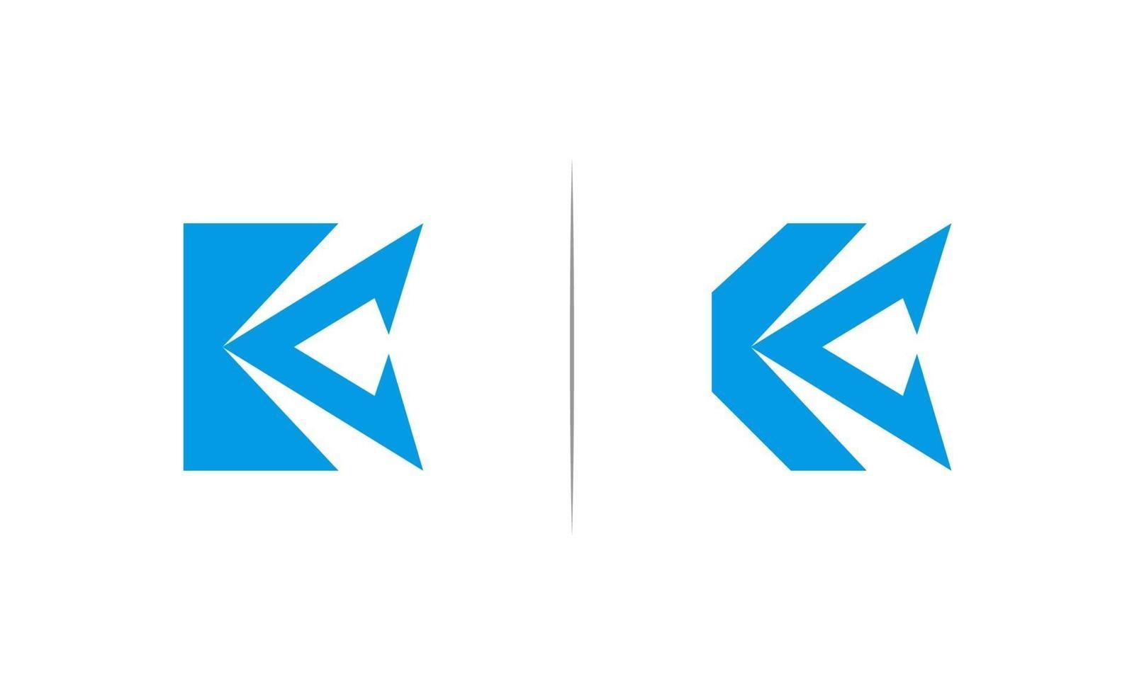 eerste k logo ontwerpsjabloon vector