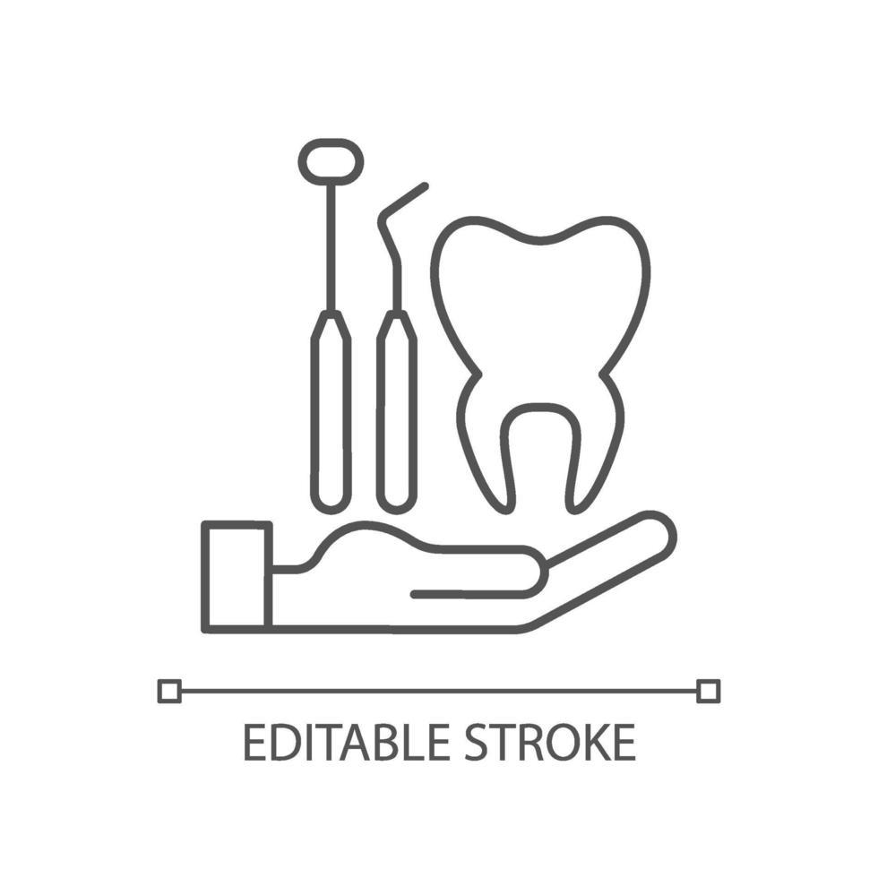 tandheelkundige verzekering lineaire pictogram vector