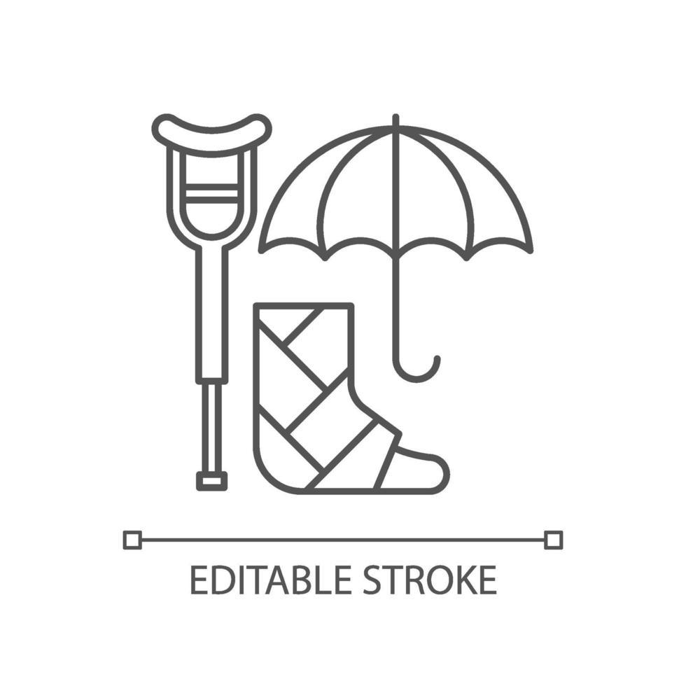 invaliditeitsverzekering lineaire pictogram vector