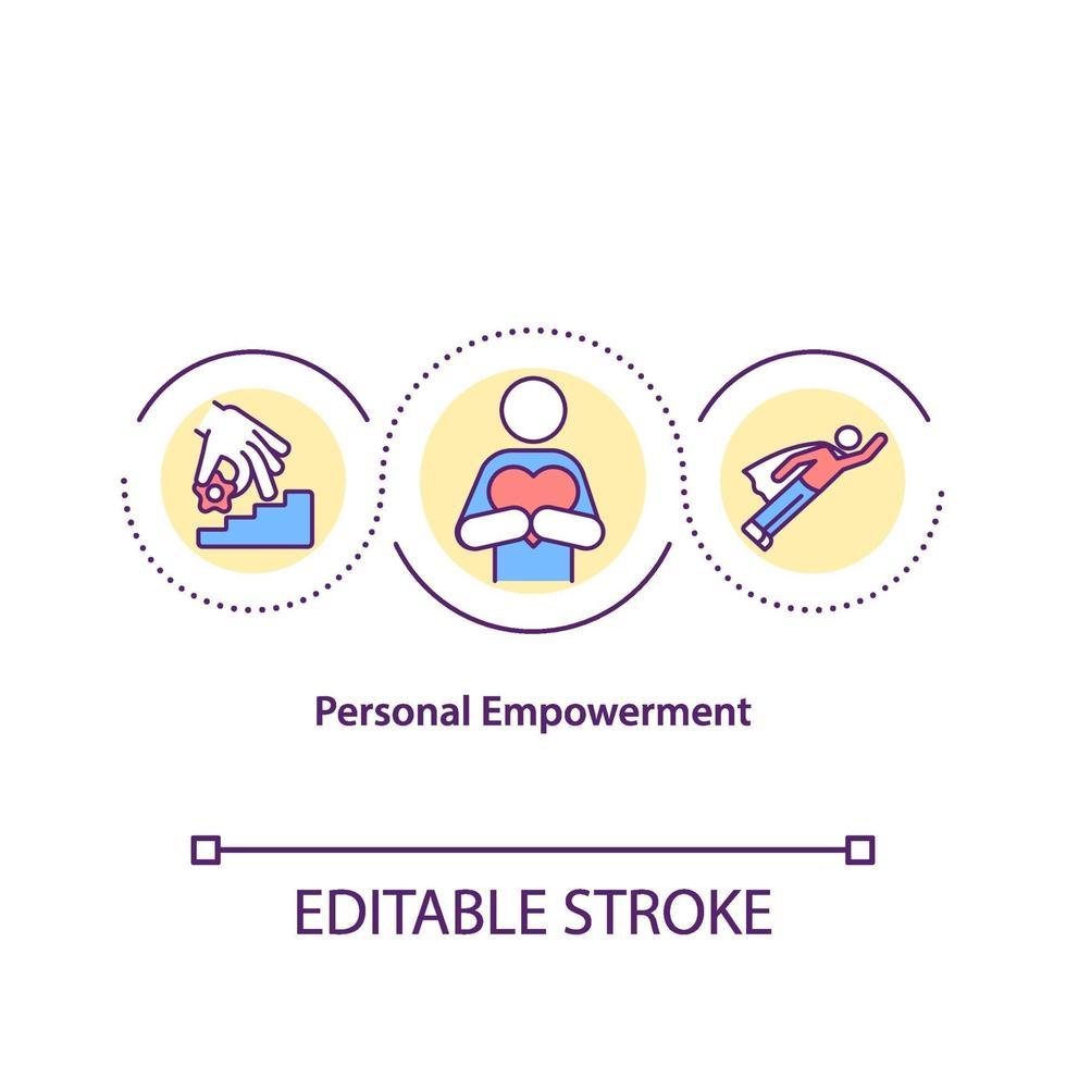 persoonlijke empowerment concept pictogram vector