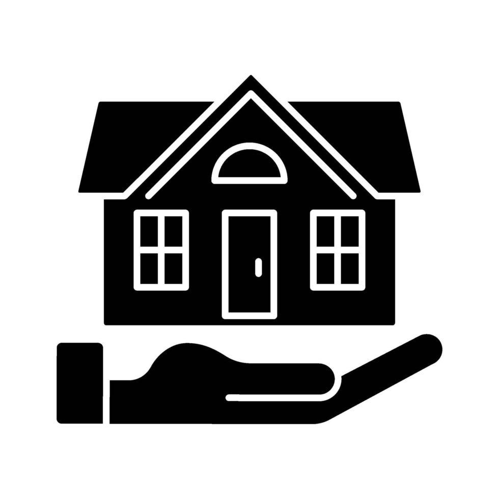 huisverzekering zwarte glyph pictogram vector