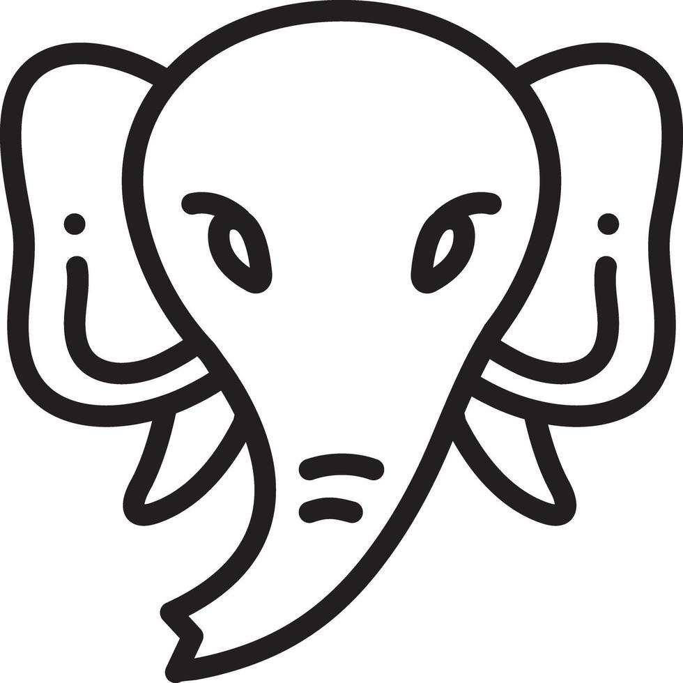 lijn pictogram voor olifant vector