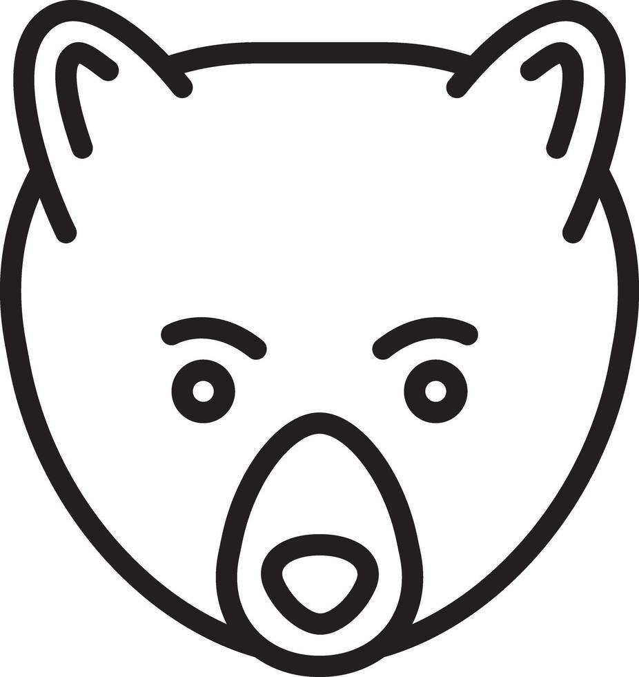 lijn pictogram voor beer vector