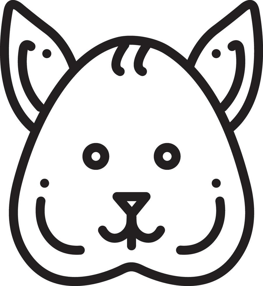 lijnpictogram voor eekhoorn vector