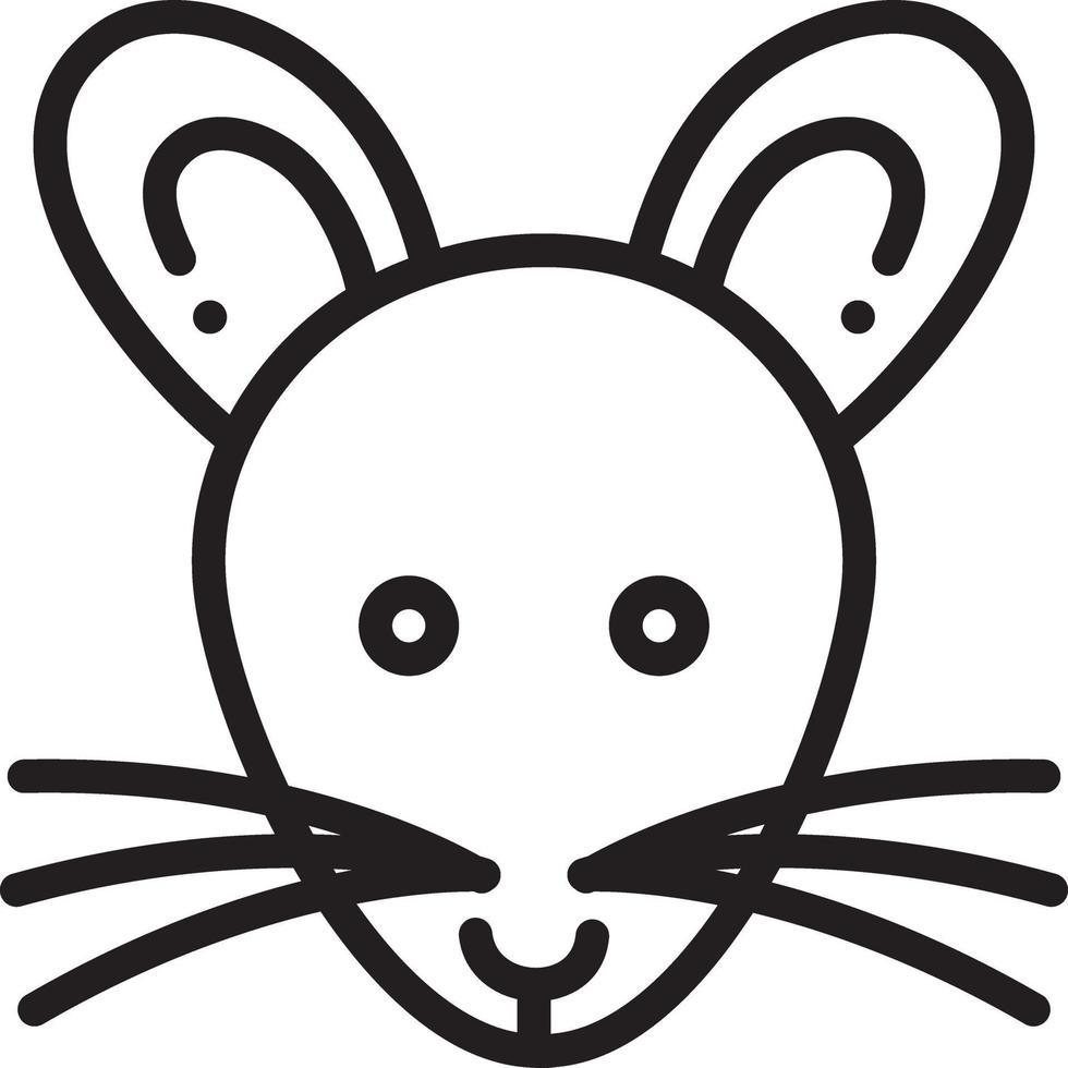 lijn pictogram voor rat vector
