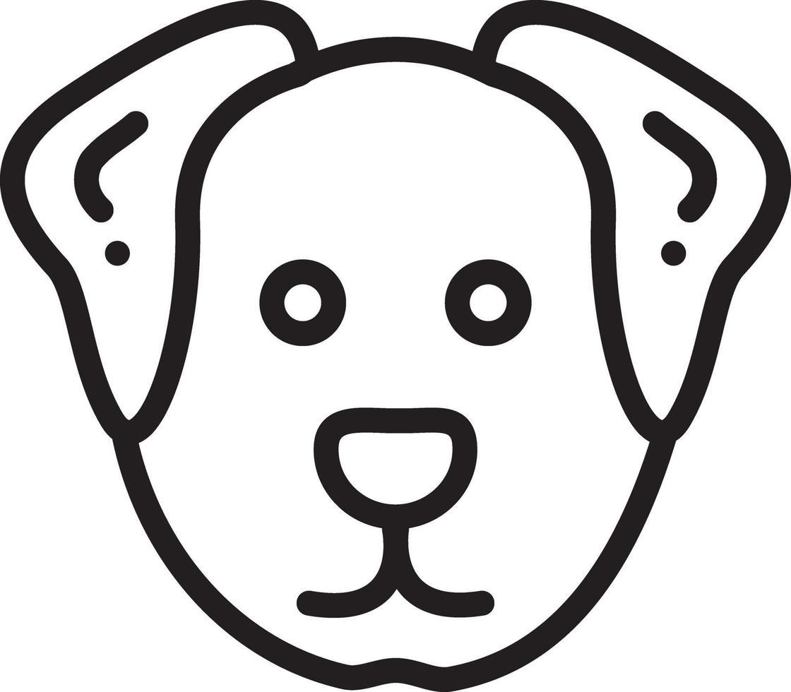lijn pictogram voor hond vector