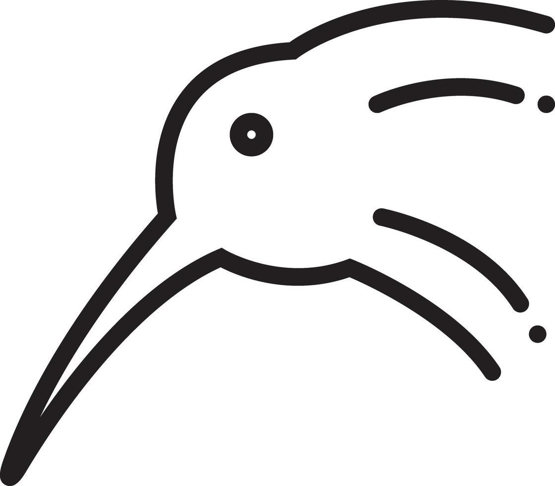 lijnpictogram voor kiwi vector