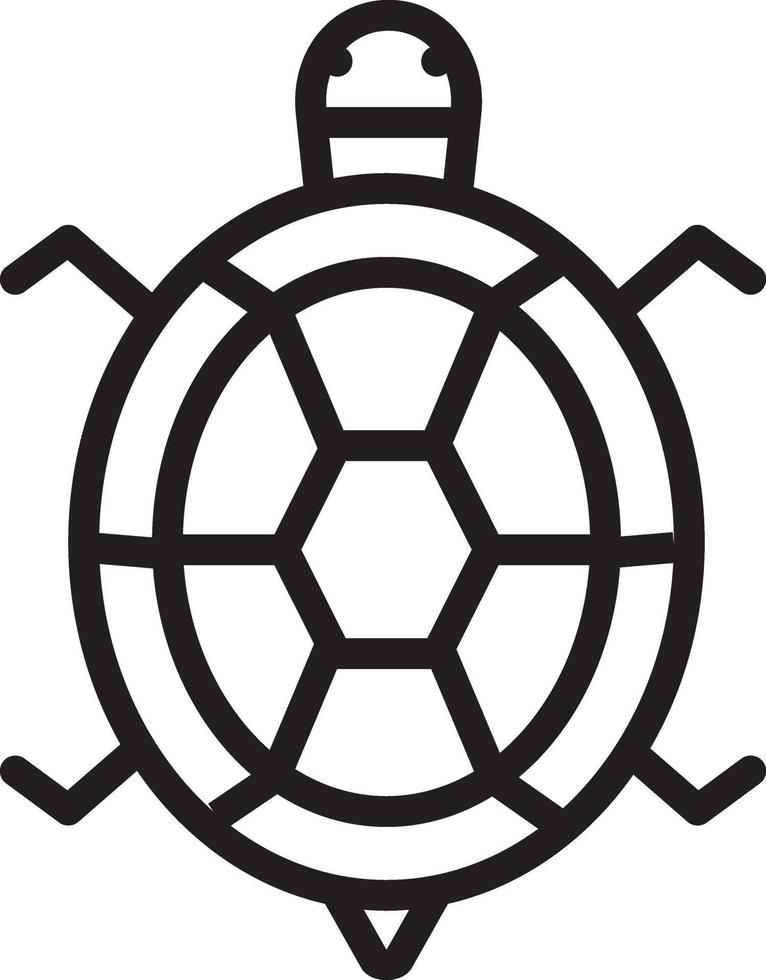 lijn pictogram voor schildpad vector