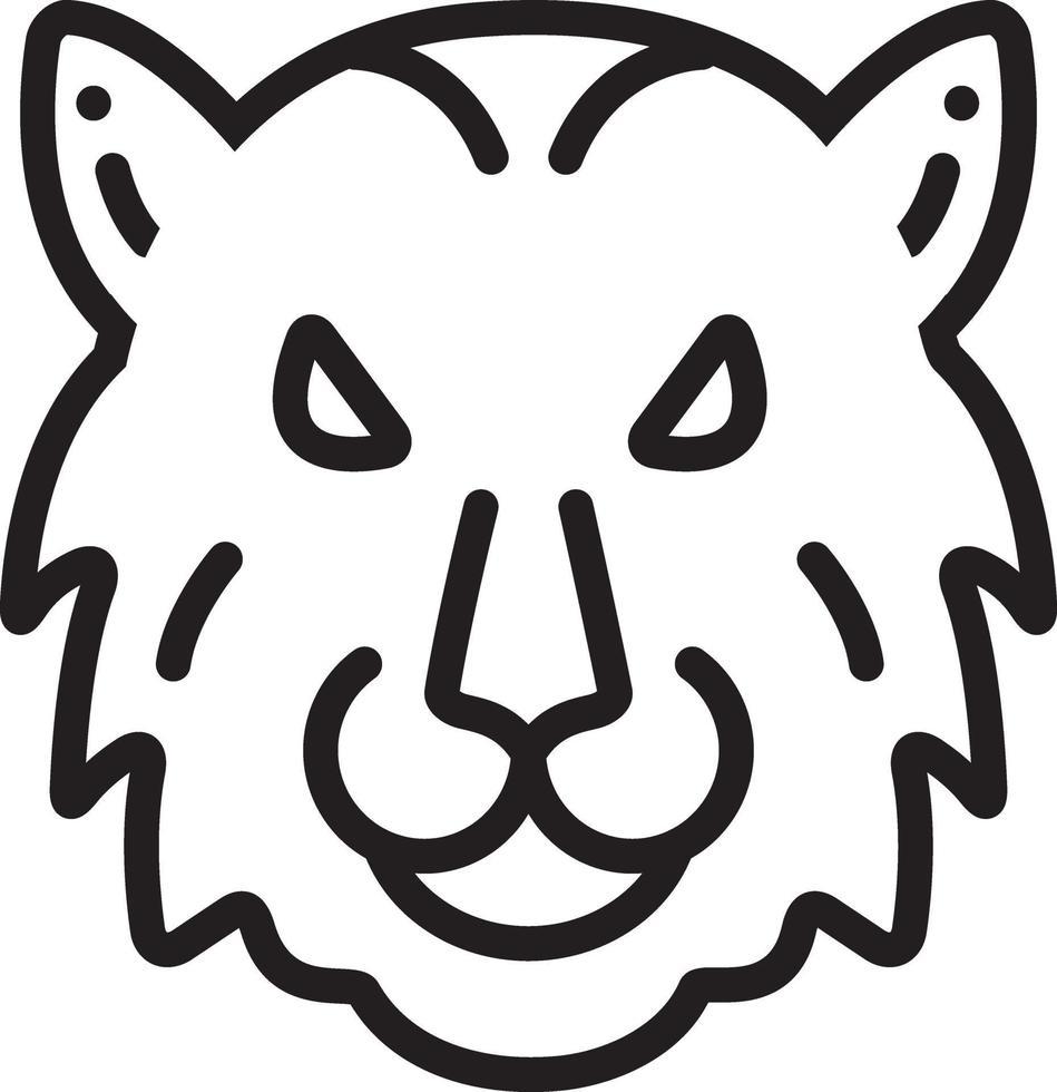 lijn pictogram voor tijger vector
