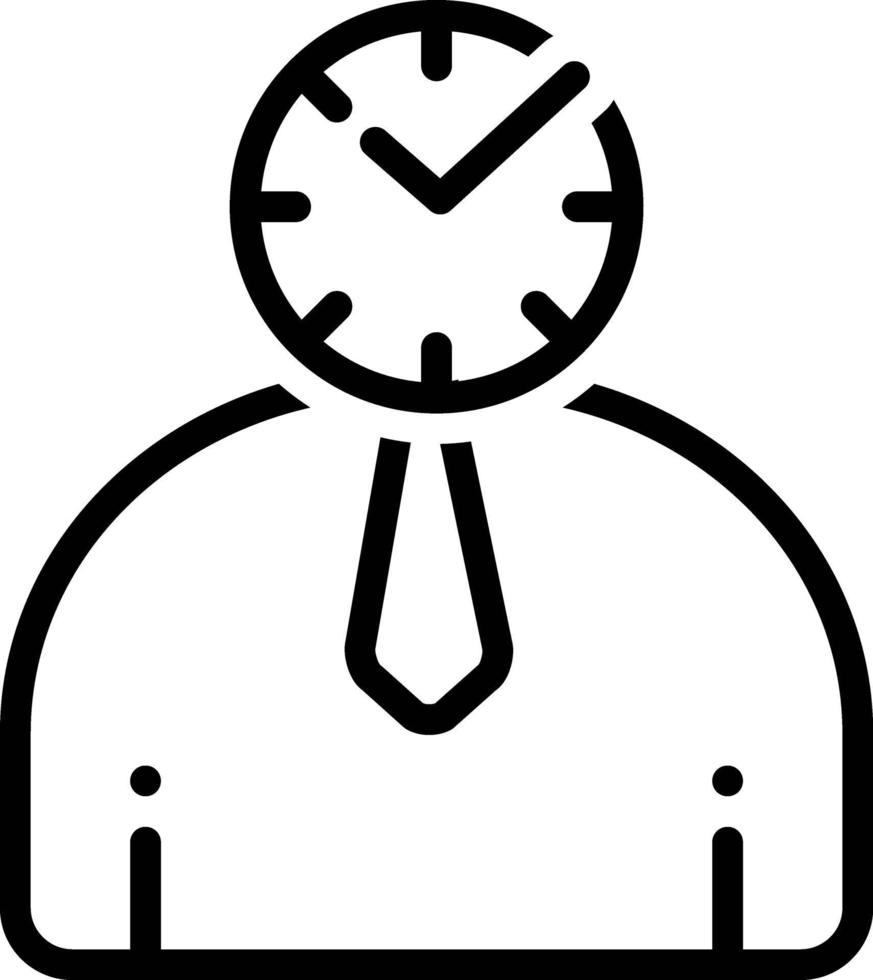 lijnpictogram voor punctueel vector