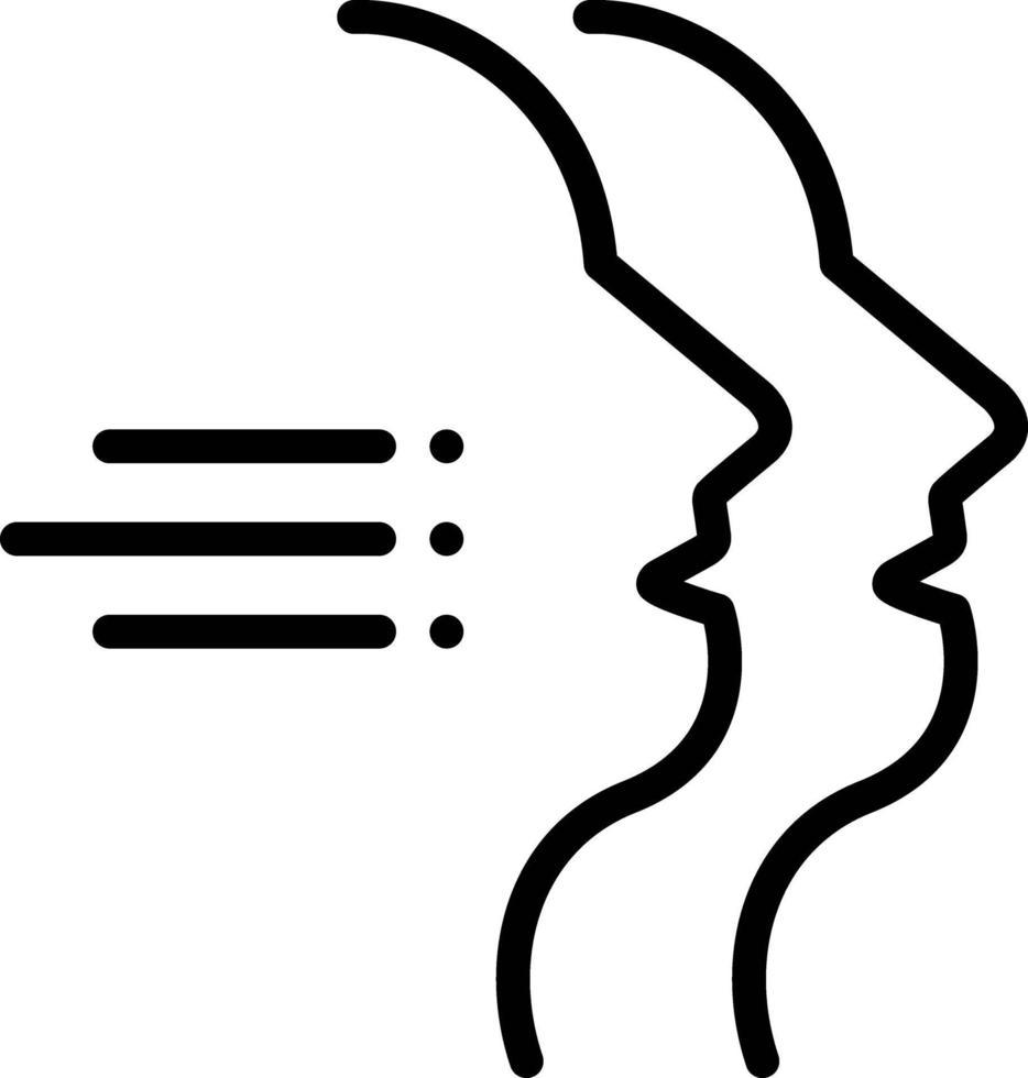 lijnpictogram voor twee randen vector