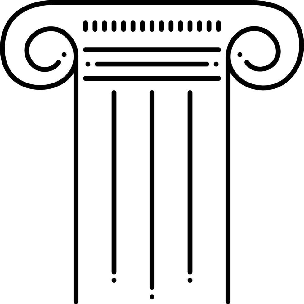 lijn pictogram voor pijler vector