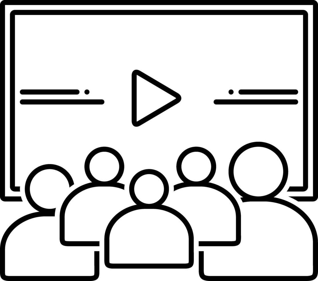 lijnpictogram voor video vector