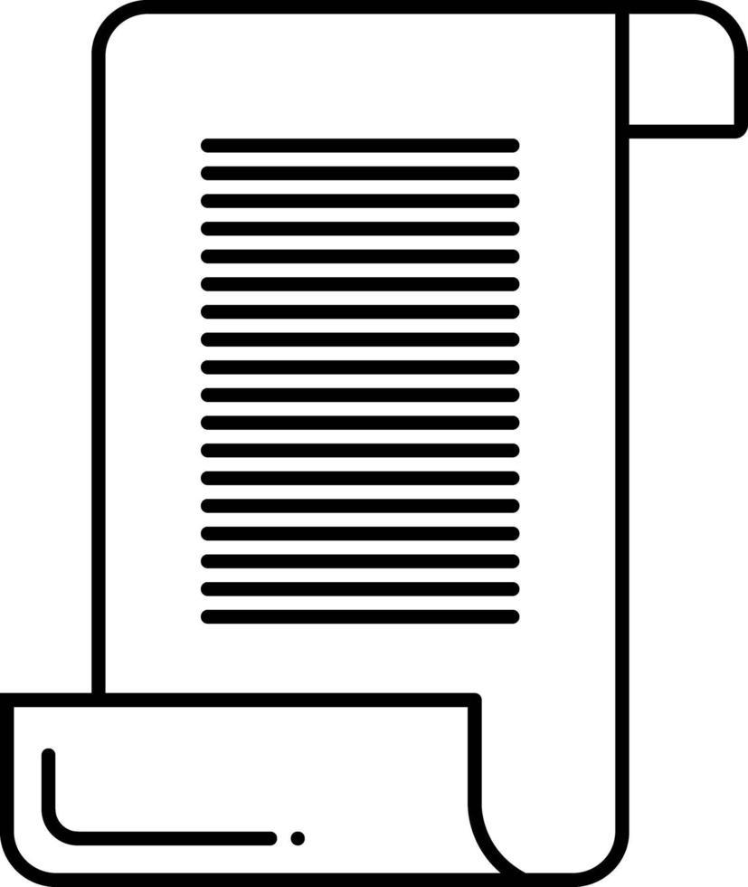 lijn pictogram voor scroll papier vector