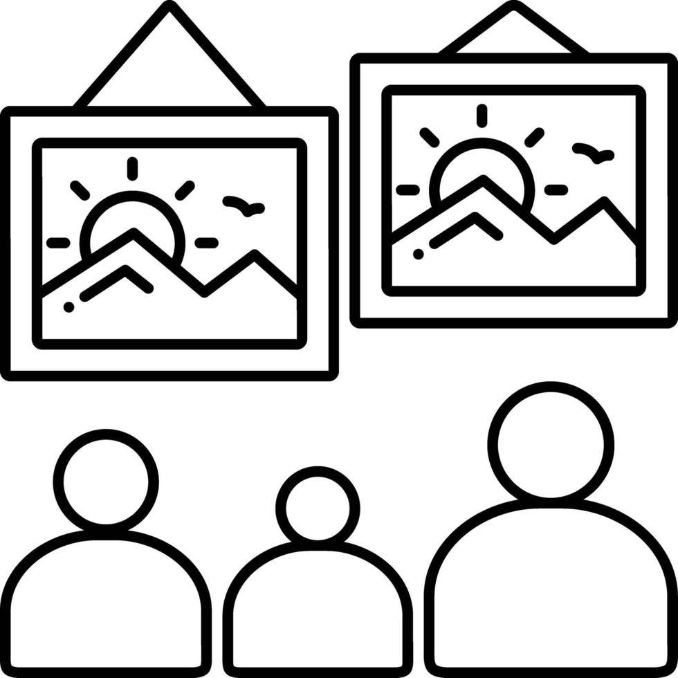 lijn pictogram voor schilderen vector