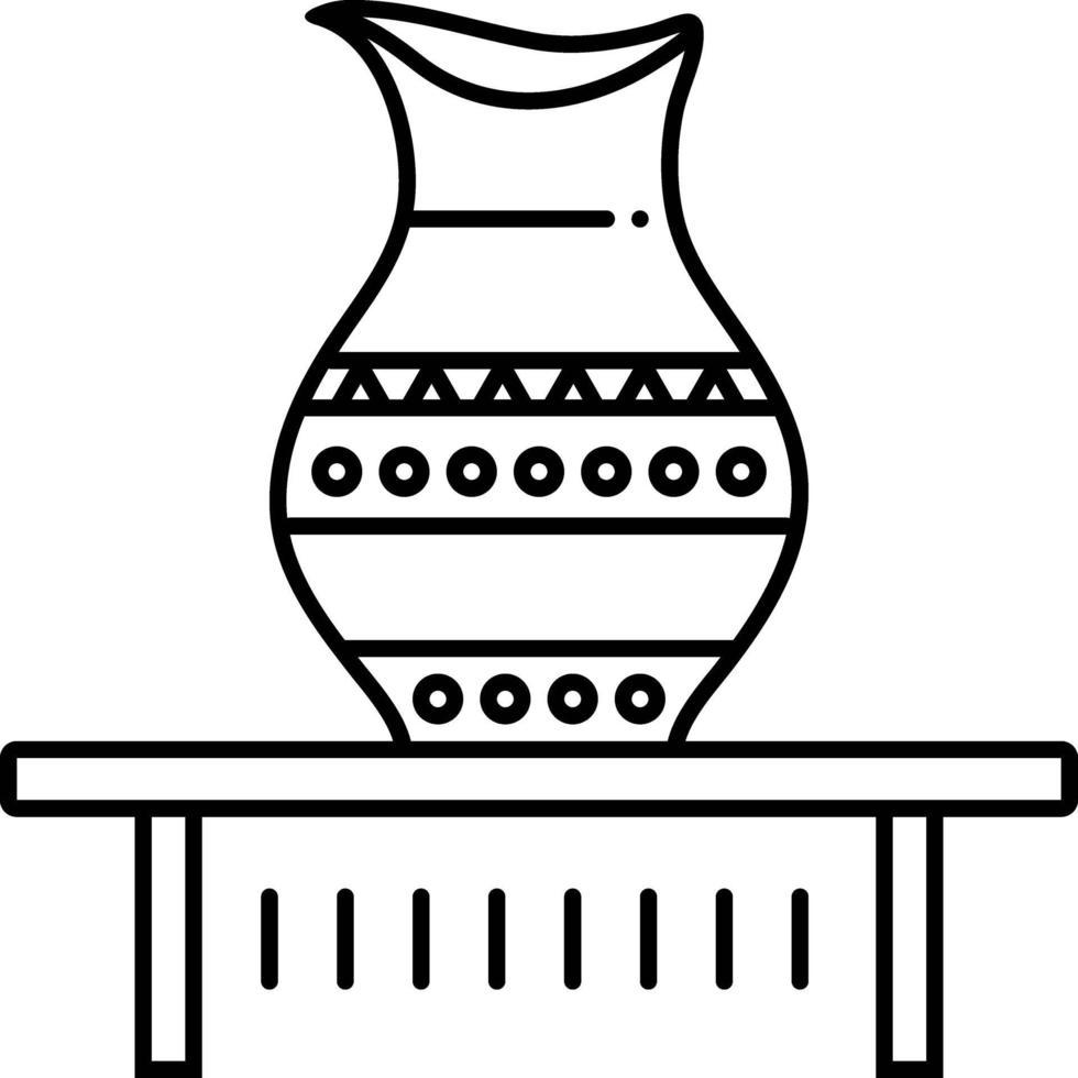 lijnpictogram voor jar-weergave vector