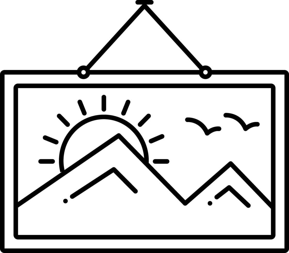 lijn pictogram om op te hangen vector
