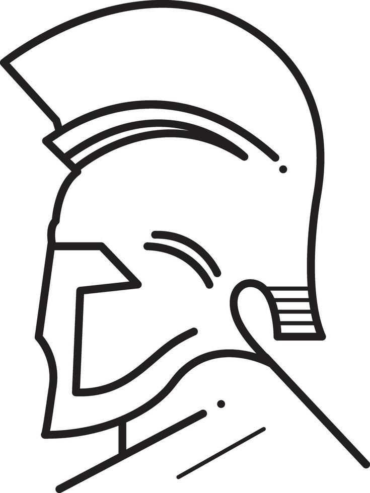 lijnpictogram voor Griekse god vector