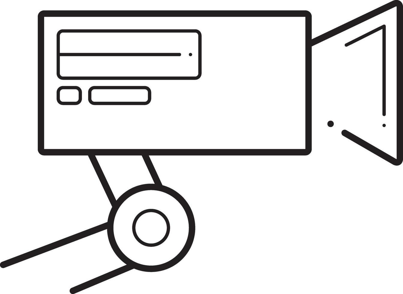 lijn pictogram voor cctv vector
