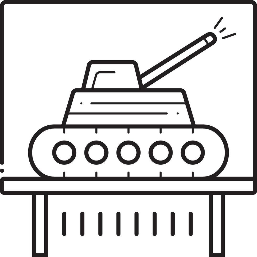 lijn pictogram voor tank vector
