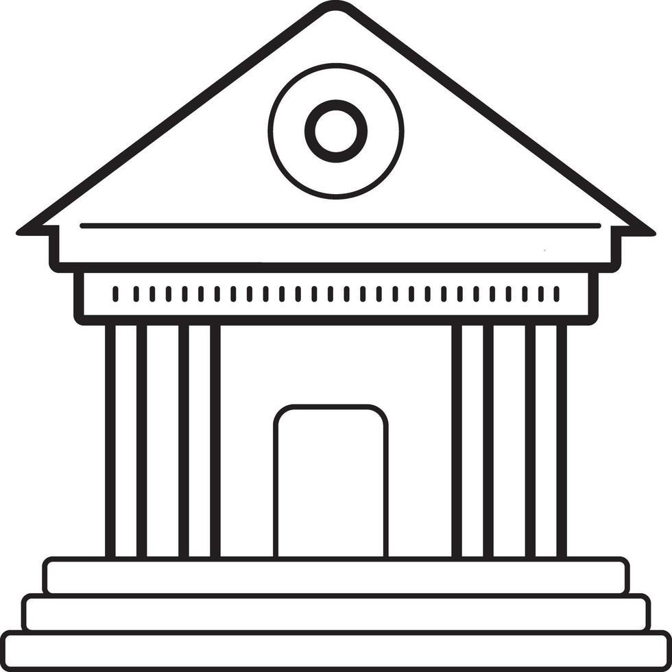 lijnpictogram voor museum vector