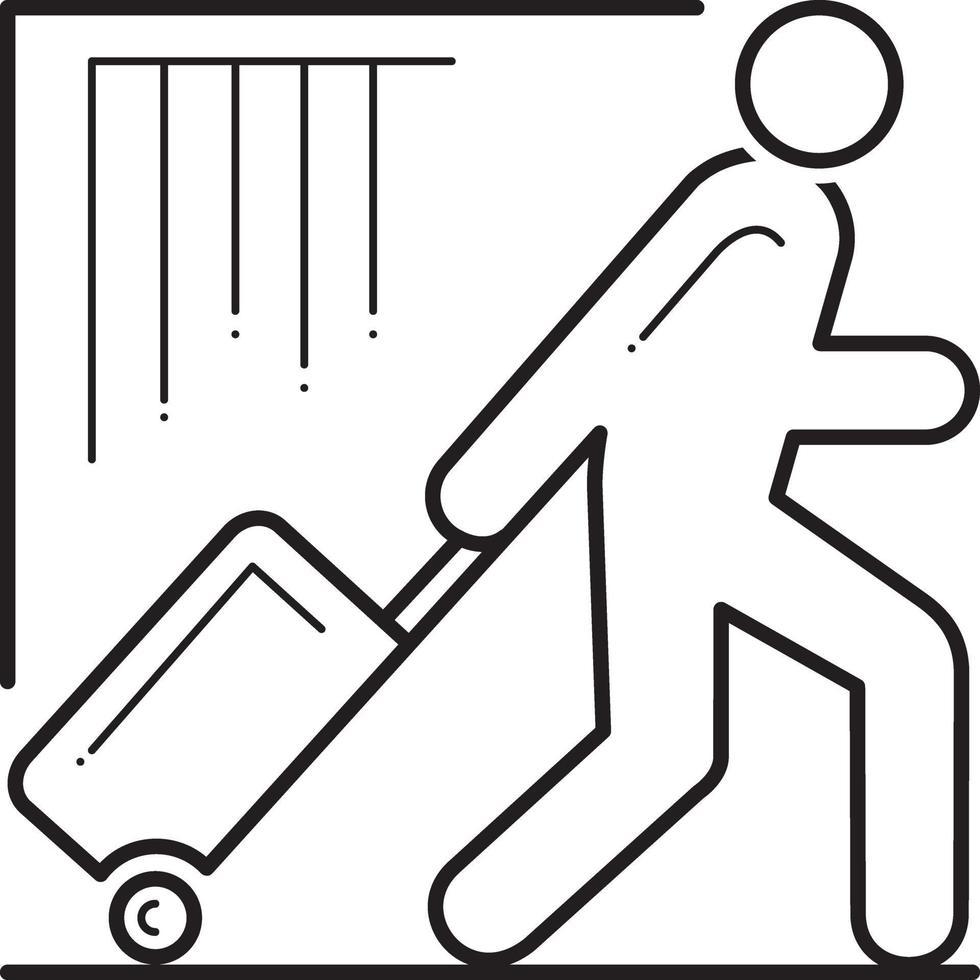 lijn pictogram voor toerist vector