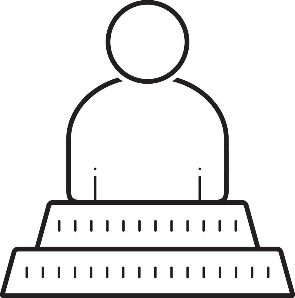 lijn pictogram voor de mens vector