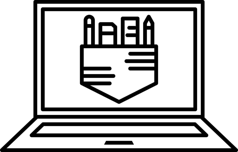 lijn pictogram voor afbeelding vector