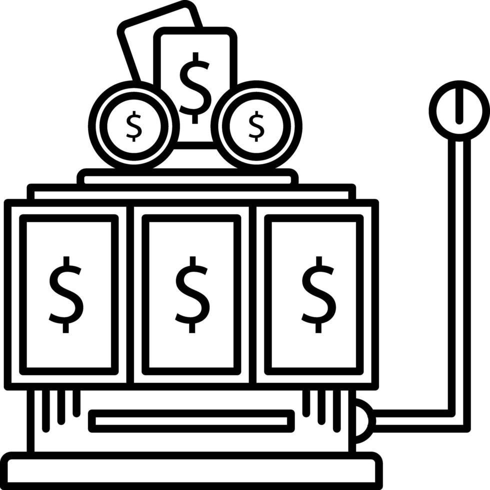 lijn pictogram voor gokken vector