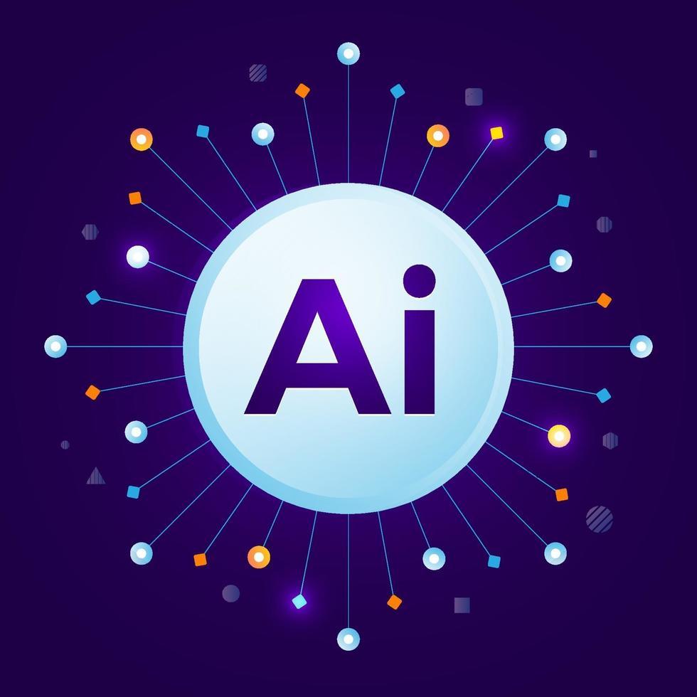 ai kunstmatige intelligentie vector