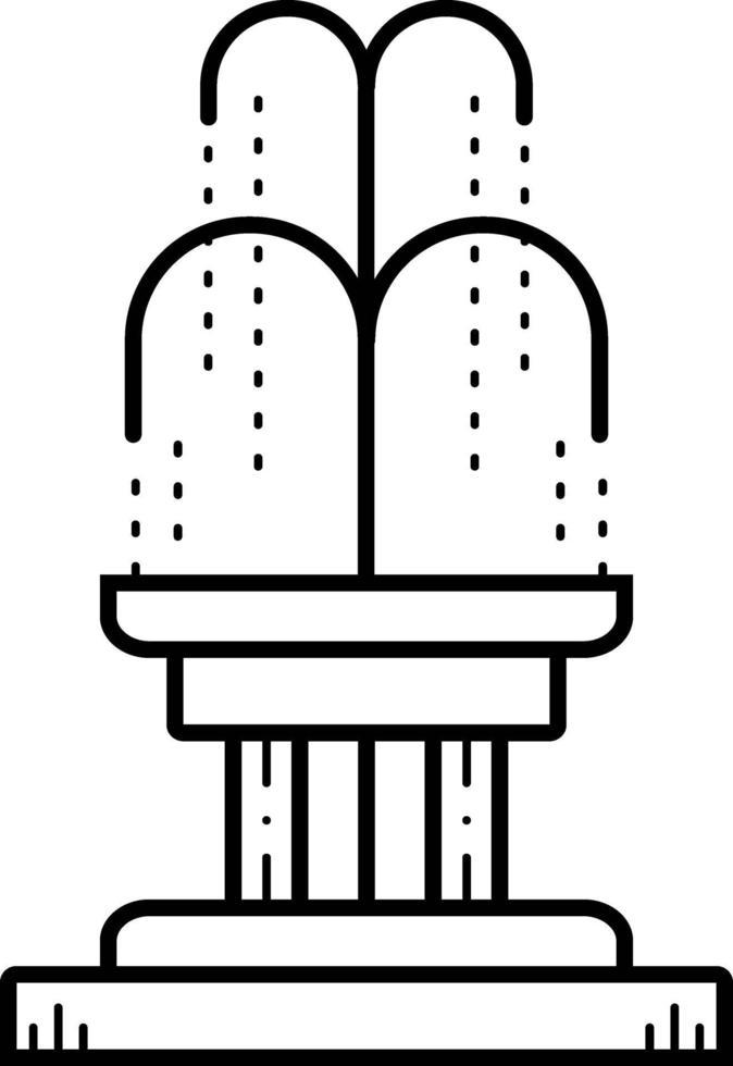 lijn pictogram voor fontein vector