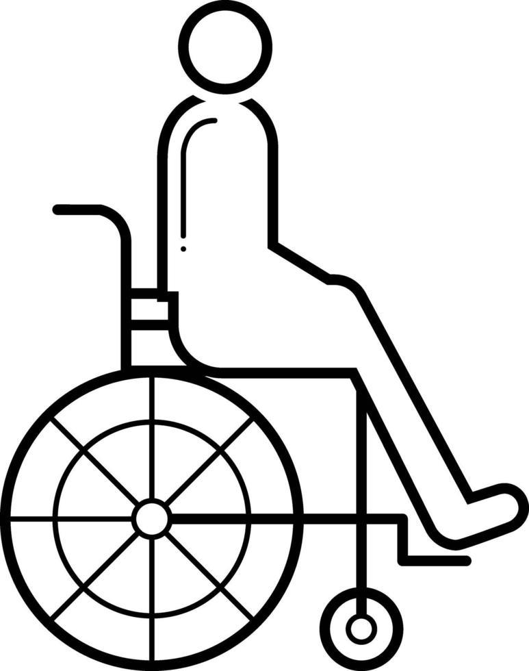 lijn pictogram voor gehandicapten vector