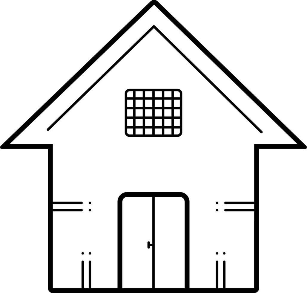 lijn pictogram voor huis vector