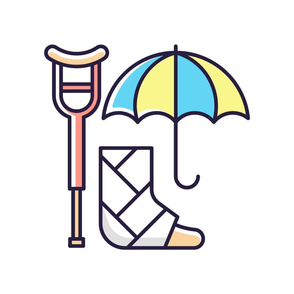 invaliditeitsverzekering RGB-kleur pictogram vector